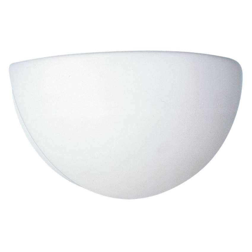 rzb wandleuchte glas opal matt metall wei f r e27 58 29. Black Bedroom Furniture Sets. Home Design Ideas
