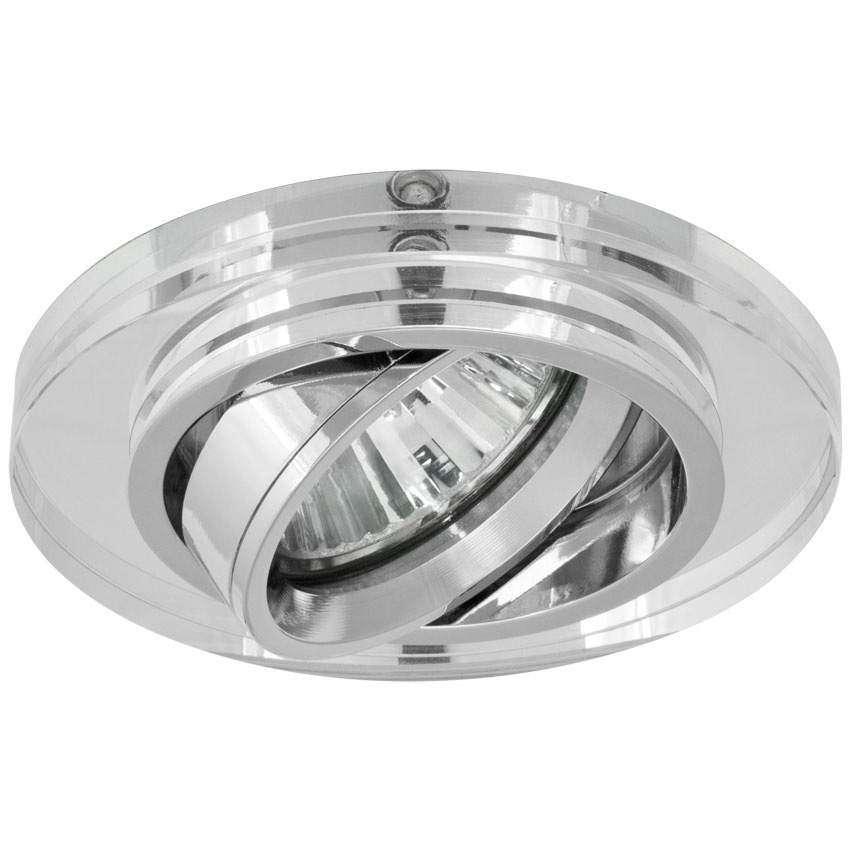 spot light led halogen einbauleuchte metall chrom glas f r gu10. Black Bedroom Furniture Sets. Home Design Ideas
