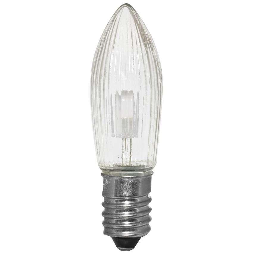 Rotpfeil Universal LED Ersatzkerze Topkerze E10 8-34V 0,1W 2100K klar 3er-Set