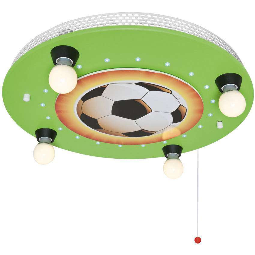 elobra kinderzimmerlampe fussball holz mit 20 leds 4. Black Bedroom Furniture Sets. Home Design Ideas