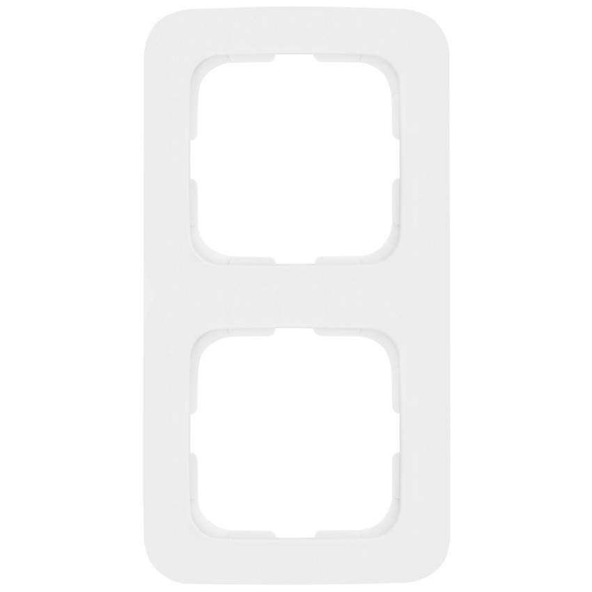 Klein Abdeckrahmen, 2-fach, reinweiß, KLEIN SI®