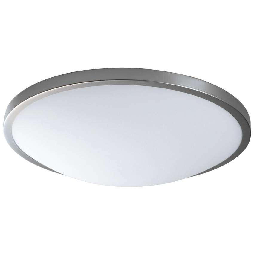 Rzb deckenleuchte rund nickel matt glas opal f r for Deckenleuchte glas