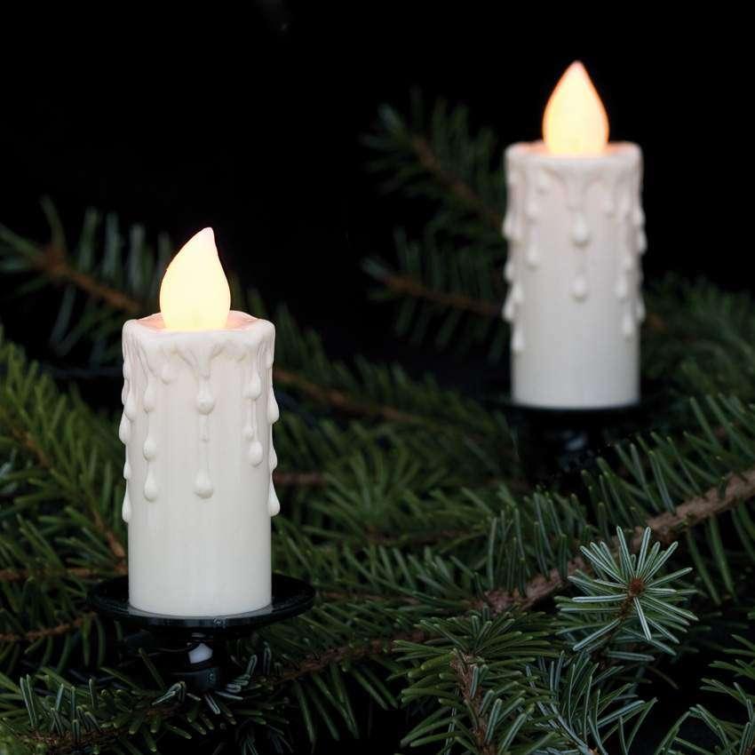 Rotpfeil led adventskranzbeleuchtung wei e kerzen for Weihnachtslichterketten innen
