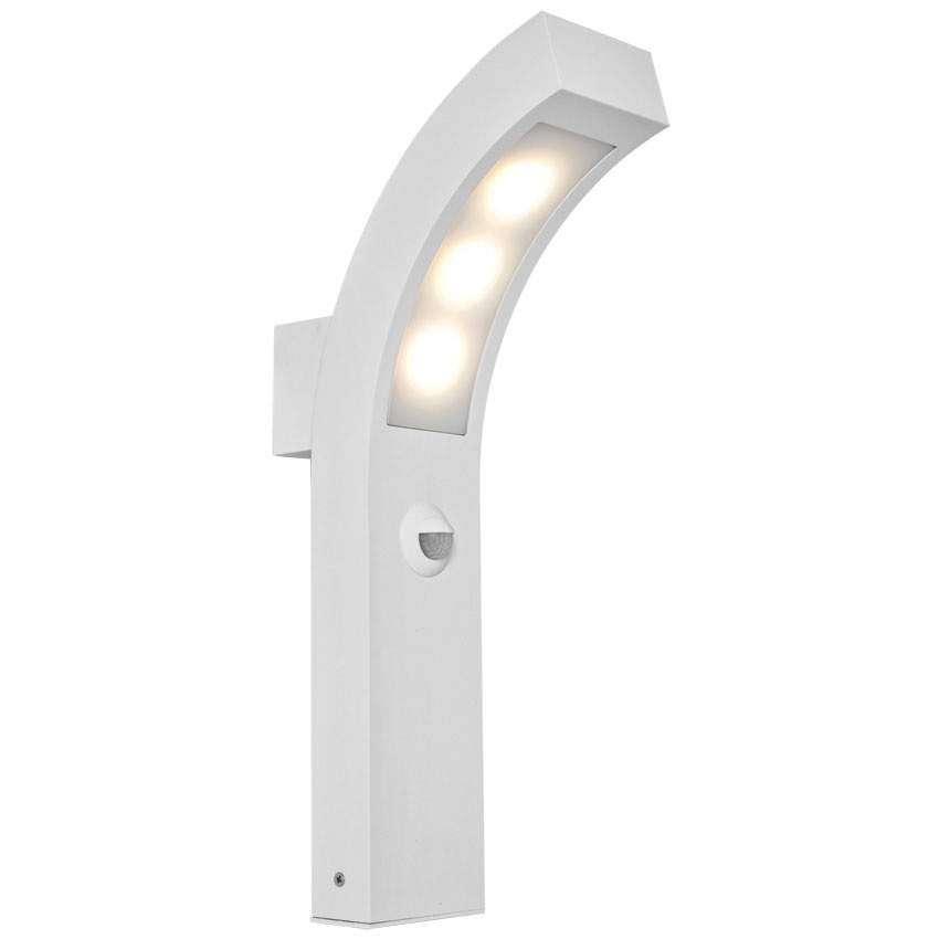 Züblin LED Außenwandleuchte weiß mit Bewegungsmelder 9W 720lm 3100K