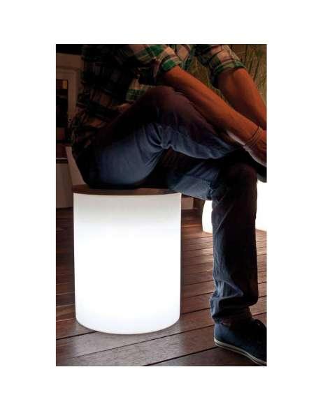 8 seasons design beleuchteter hocker kunststoff wei szl. Black Bedroom Furniture Sets. Home Design Ideas