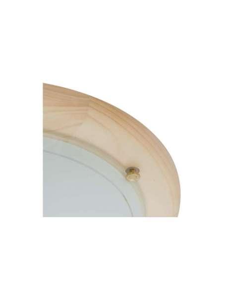 Deckenleuchte Rund, Holz Kiefer, Glas opal für 1 x E27 Ø=300mm