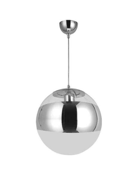 globo pendelleuchte rund chrom glas klar 30. Black Bedroom Furniture Sets. Home Design Ideas