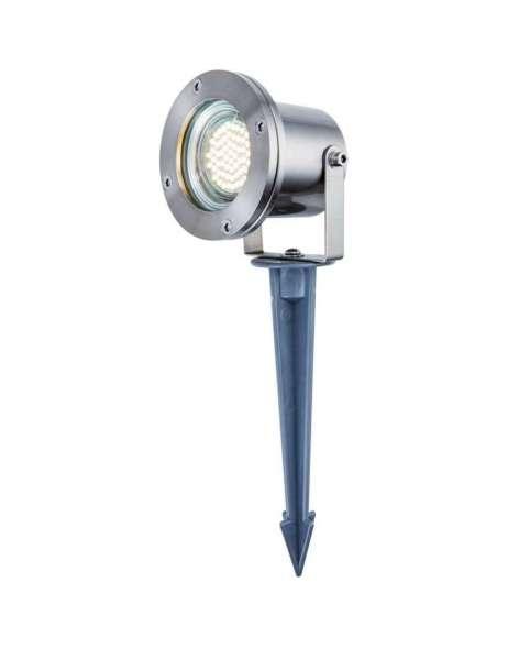 Heitronic Traunstein LED Strahler 35959, Edelstahl 12V