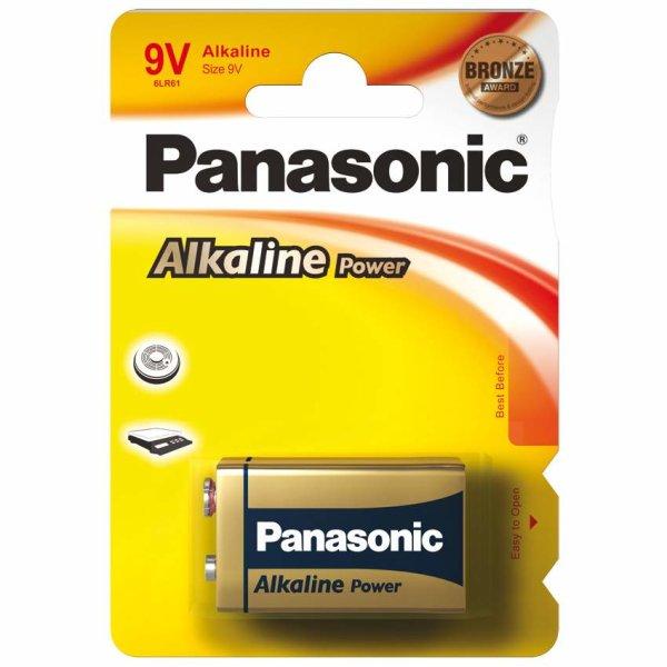 Panasonic Alkaline Power Batterie 9V-Block E