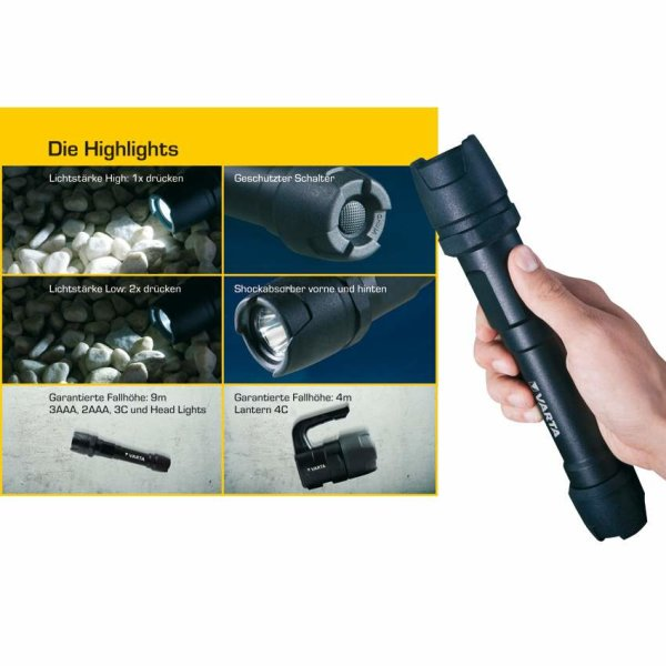 Varta LED-Taschenlampe INDESTRUCTIBLE 1 LED/1W 3xAAA