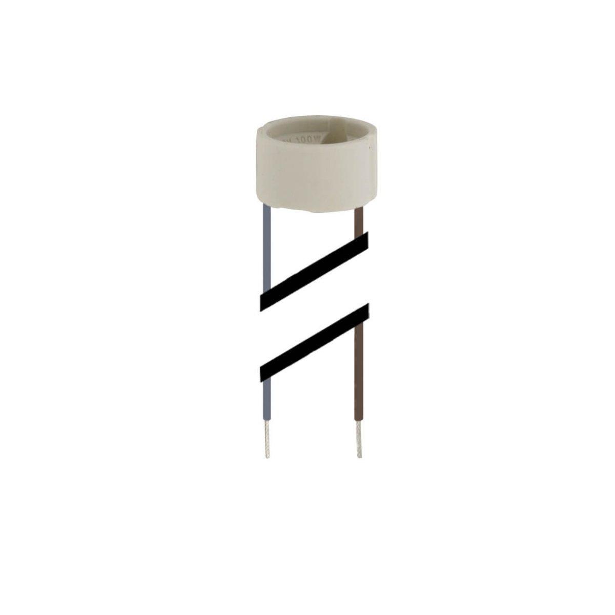 fassung gu10 halterung gu10 mit anschlusslitze 230v. Black Bedroom Furniture Sets. Home Design Ideas