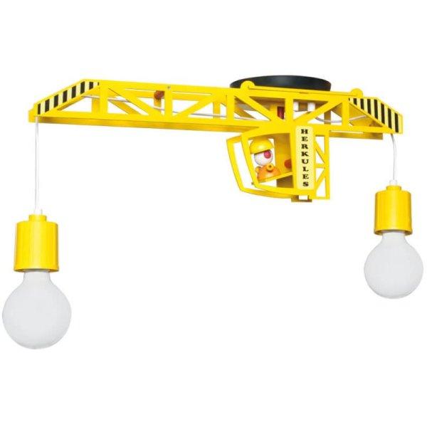kinderzimmer deckenlampe bagger gelb 2 flammig elobra. Black Bedroom Furniture Sets. Home Design Ideas