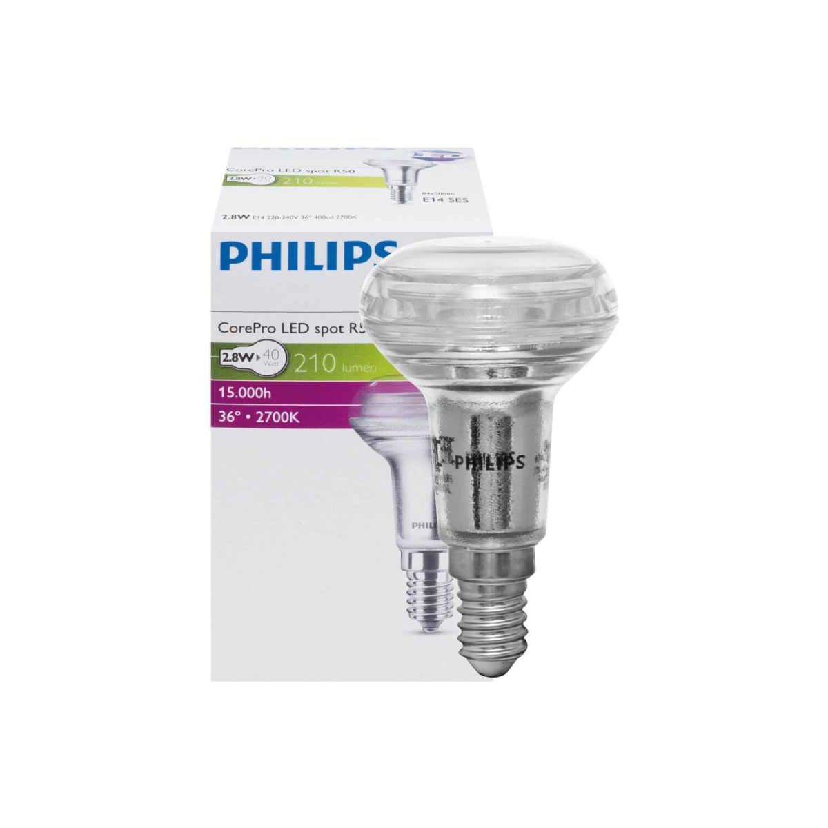 led reflektorlampe r50 e14 corepro 2 9w 230lm 2700k ee. Black Bedroom Furniture Sets. Home Design Ideas