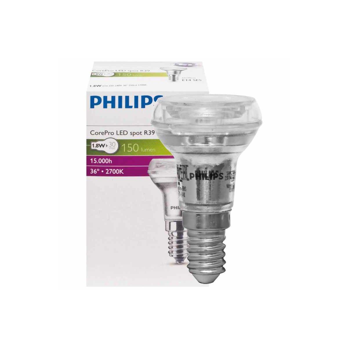 led reflektorlampe r39 e14 corepro 2 2w 150lm 2700k ee. Black Bedroom Furniture Sets. Home Design Ideas