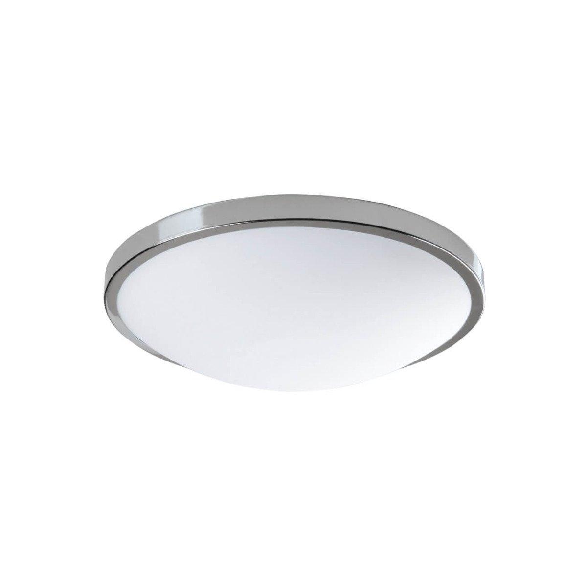 Rzb deckenleuchte rund chrom glas opal matt f r e27 for Deckenleuchte glas